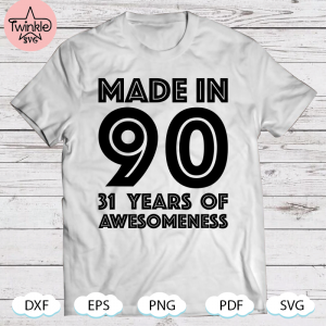 31St Birthday svg For Her Women 31 Year Old Daughter 1990 Ver2 SVG PNG DXF EPS PDF