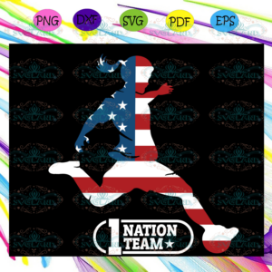 1 nation team, woman svg,independence day svg, happy 4th of july