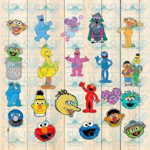 22 Sesame Street svg, cut file vector, cliparts, printable, cricut   silhouette studio, bundle file, svg