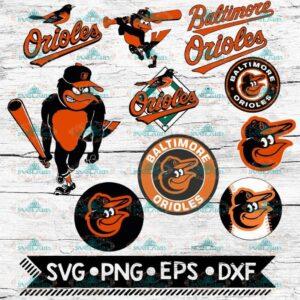 Baltimore Orioles Clipart, png, svg, dxf, eps, ai, Baseball, MLB, Team, Logos, Graphics, 300dpi