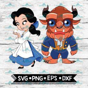 Beauty and the beast Svg, Belle svg, Disney Princess svg, Cartoon Svg, Baby Belle, svg