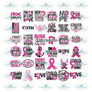 Breast Cancer Svg, Bundle, Awareness Svg, Cricut File, Cancer Svg, Pink Svg, Fighting Svg 5