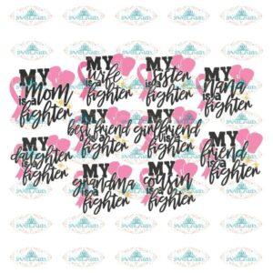 Breast Cancer Svg, Bundle, Awareness Svg, Cricut File, Cancer Svg, Pink Svg, Fighting Svg 6
