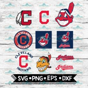Cleveland Indians clipart png MLB Baseball ai svg eps dxf Design Files For Cricut
