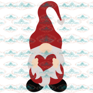 Gnome SVG, Valentine SVG, Valentine Gnome SVG for Cricut, Silhouette, Gnome with heart svg file for Shirt, Funny Valentine svg, Love svg