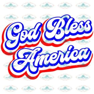 God Bless America SVG DXF PNG, 4th of July Svg, America, Independence Day Svg, Fireworks, Patriotic, Cricut, Sublimate, Silhouette
