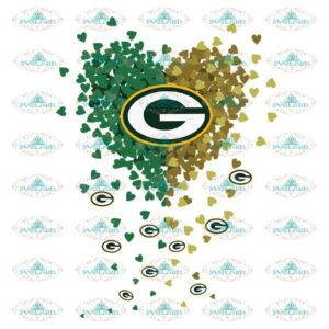 Green Bay Packers Heart Svg, Green Bay Packers Football Heart Svg, Cricut File, Clipart, Football Svg, Sport Svg, NFL Svg, Sport Svg