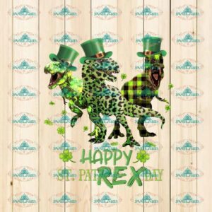 Happy st.patrex day, t-rex, dinosaur, patrick's day, happy patrick day, png