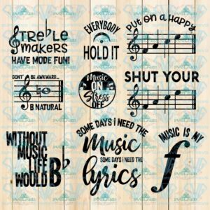 Music Humor, Music SVG, Cut Files for Crafters, quotes, funny quotes, music lover, bundle file, svg