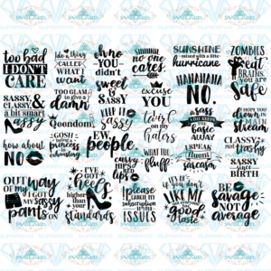 Sassy quote bundle, Inspirational quotes, quotes, funny quotes, bundle files, gift for friend, svg