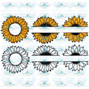 Sunflower SVG, Clipart bundle, 6 Designs, autumn, digital download, cut file