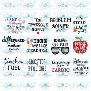 Teacher Mega SVG Bundle, 100 Day of School, Field Day, Last Day of School, Teacher Workout, Teacher Cup, Math teacher, Tomorrow's Leaders