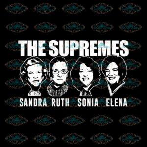 The Supremes Svg, Ruth Bader Ginsburg Svg, Notorious Svg, RBG Svg, Cricut File, Clipart 2